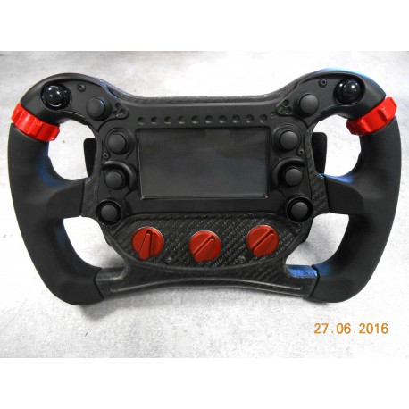 STEERING WHEEL FOR SIMULATOR F2 F3 - 2 PADDLE - 3 KNOB, SIMULATOR SOFT
