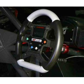 GT V1A Competition Steering Wheel - 6 UD Buttons - Spiral Beam