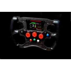 SINGLE SEATER STEERING WHEEL - 2 PADDLE SHIFT (STW_2P_FS) - 3 ROTARY KNOB - WITHOUT ELECTRONICS