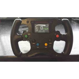 Single-seat carbon steering wheel FR 1200 2 Paddle shift 6 Switch