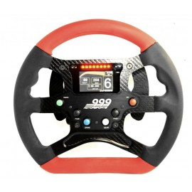 Red and Black V1A GT Competition Steering Wheel - Pallets - UD Buttons