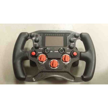 STEERING WHEEL CARBON ENDURANCE - 2 PADDLE SHIFT - 3 ROTARY KNOB