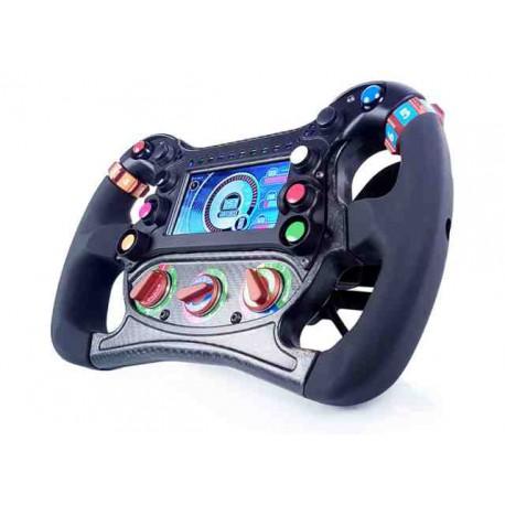 Single-seat Formula 2451 S3 steering wheel - 4 Paddles shift - 5 Rotating - Spiral beam
