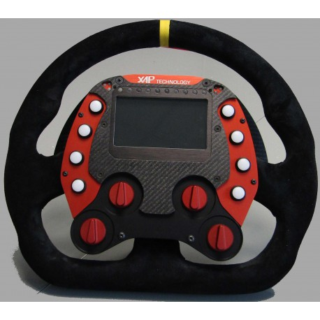 GT STEERING WHEEL (GT_V1A) - 5 BOUTONS UP/DOWN 2 ROTARY KNOB - SPIRAL LOOM